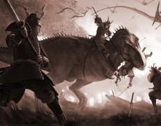 """""""T-Rex vs Samurai"""" by RJ Palmer"""